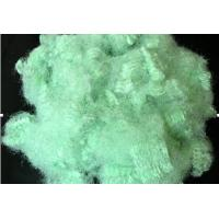 Wholesale Non - siliconized 2.5 - 25D X 22 - 76MM hollow green polyester staple fiber for shoes from china suppliers