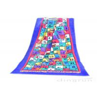 Wholesale Reactive Large Snakes And Ladders Game Beach Towel Printing 400gsm from china suppliers