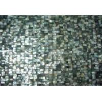 black mop shell mosaic tile in brick style