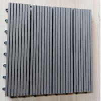 Wholesale Anti Ultraviolet Wood Plastic Composite Flooring , Durable Co Extrusion PE Floor For Exterior from china suppliers