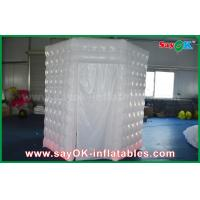 China PVC Coated Inflatable Octagon Mobile Photo Booth Tent With LED Lighting on sale