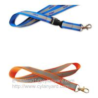 Wholesale Secure reflective band lanyards with visibility at night, printed reflective lanyards from china suppliers