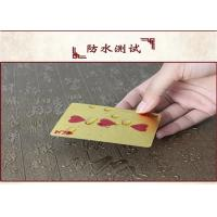 Wholesale CE Personalized Poker Cards , Custom Embossed 24k 999.9 Gold Foil Plated Plastic Playing Cards from china suppliers