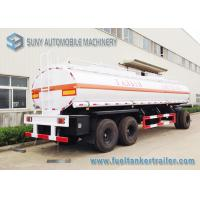 Wholesale High Performance 20000L 3 Axle Train Oil Tank Trailer With Ellipse Shaped from china suppliers