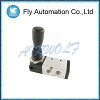 China Hand Dial Pneumatic Manual Valve 1/4 Reversing Silvery Compressed Valve on sale