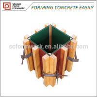 Wholesale Great quality reusable formwork used Construction Concrete plastic plywood column formwork with low price from china suppliers