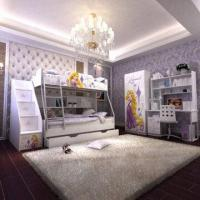 Wholesale E0 Grade Bunk Bed/Kids' Bedroom Set/Children Furniture/Wooden Bedroom, Princess, Disney, Chair from china suppliers
