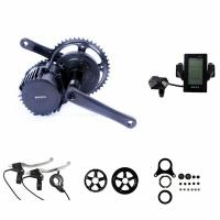 Wholesale Portable Electric Bike Crank Motor Kit , Electric Mid Drive Bike Kit With LCD Display from china suppliers