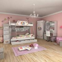 Wholesale E0 Grade Children Bunk Bed Furniture, Home Product, Princess, Disney, Ladder Chest, Bed Chest from china suppliers