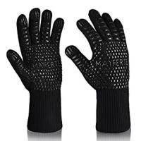 Wholesale Kitchen Cooking Black Aramid Heat Resistant Work Gloves Barbeque Oven Mitts from china suppliers