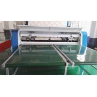 Quality 7 Inch Touch Screen Quilted Fabric Mattress Cutting Machine 80Mm Thickness for sale