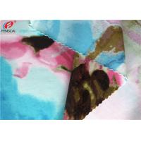 China Printed Nylon Spandex Fabric Stretch Bathing Suit Warp Knitted Fabric on sale
