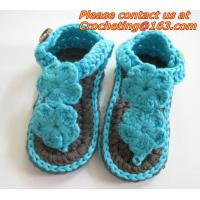 Wholesale Boys Girls Crochet Sandal Thongs Slippers Newborn Infant Toddler Prewalker Kids Knitt from china suppliers