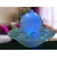 China Glass Ball Table Top Water Fountain, with LED Lightings. on sale