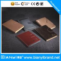 Wholesale Luxury reusable excellent genuine leather loose leaf notebook from china suppliers