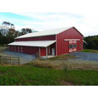 Quality PEB Pole Steel Buildings, Metal Barn Building Kits H Section Beams Gable Frame for sale