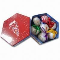 Wholesale Printed Christmas Balls, Customized Designs are Accepted, Suitable for Promotional and Gift Purpose from china suppliers