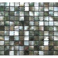 black mop shell mosaic tile with mesh backing