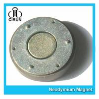 Wholesale Small Thin Custom Neodymium Magnets , Strong Round Flat Ndfeb Magnet from china suppliers