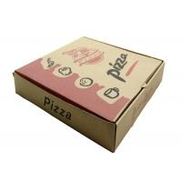 China Mini Cardboard Pizza Boxes Brown Color Offset Printing Embossing Finish on sale