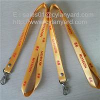 Wholesale Riveted nylon strap lanyards, nylon badge lanyard with rivet and metal hook, from china suppliers