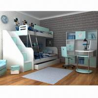 Wholesale Kids'/Children's Bedroom Furniture with E0 Grade Board,Bunk Bed, Carton Figure Ladder Chest and Desk from china suppliers