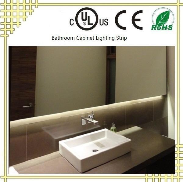 Waterproof bathroom cabinet lighting strip with ul ce rohs for Waterproof bathroom cabinets