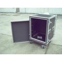 16u Rack Flight Case, Aluminum With Good Wood, Black Color For Audio And Light