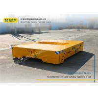 Wholesale 10 Ton Yellow Electric Trailer Trolley / Battery Transfer Cart Easy Operated from china suppliers