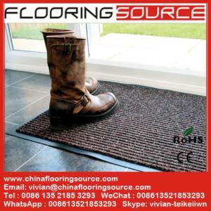 China Ribbed Carpet Floor Mat Stop Dirt Absorb Moisture Non Slip Rib Carpet Door Mat on sale
