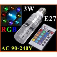 Wholesale RGB LED Bulb Lamp 16 Color changing Crystal LED Spotlight 3W E27 from china suppliers