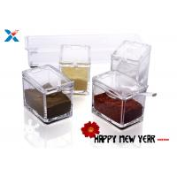 Wholesale Transparent Acrylic Box , Acrylic Seasoning Box For Nuts / Sauces Storage from china suppliers