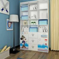 Wholesale E0 Grade Kids'/Children's Furniture, 3-door Book Cabinet/Bookcases with Printing Pictures from china suppliers