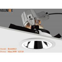 Wholesale Adjust Mirror Reflector Led Recessed Downlights Horizontally GU10 Lamp Holder from china suppliers