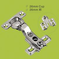 China one way cabinet door hinge 26mm cup hinges with Nickel finish on sale