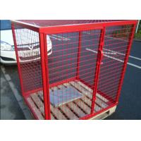 Wholesale Eco Friendly Propane Tank Storage Cage , Gas Tank Cage With Galvanized Material from china suppliers