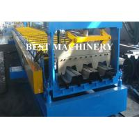 China Galvanized Steel Floor Deck Roll Forming Machine , Floor Tile Roll Forming Machine on sale