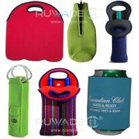 Wholesale Neoprene wine beer bottle cooler holder tote,2 pack,6 pack,with handle or zipper,slap cooler koozie from china suppliers