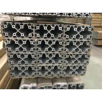 Silver And Black Anodized 6063 T5 Aluminum T Slot Profile / Aluminum Frame Extrusions