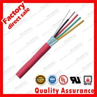 Wholesale Security Fire alarm cables shield UL Soild copper 2C 6C cores fpl fplr silicone red flame retardant sheath PVC jacket from china suppliers