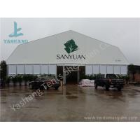 China Double Pitch High Pressed Aluminum Framed Tent Solid ABS Wall Clear Glass Door 20M X 40M on sale
