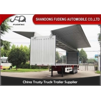 Wholesale Mechanical Side Wall 3 Axles 60T 40Ft Cargo Box Trailer from china suppliers