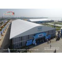 China Waterproof PVC Roof Outdoor Exhibition Tents Marquee with Tempering Glass Sides on sale