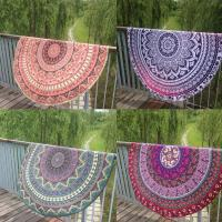 Wholesale Round Beach Throw Tapestry Hippy Boho Gypsy Cotton Tablecloth Beach Towel from china suppliers
