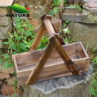 China Wood product » Wood planter & pot » Wooden Rectangular Shaped Outdoor Planter for Flower on sale