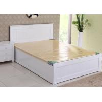 China Modern Super King Wooden Bed Frame , Contemporary Hotel White Twin Bed Frame on sale