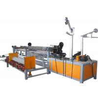 China High Production Efficiency Chain Link Fence Machine With Burr In Edge on sale
