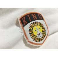Wholesale Merrow Border Custom Stitched Patches , Clothing Iron On Embroidered Patches For T Shirts from china suppliers