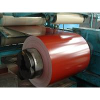Bright Red Galvalume Prepainted Steel Coils 0.15 Mm High Glossy