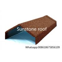 Wholesale stone coated metal roofing sheet manufacturer/synthetic resin roof tile/made in China Angle Ridge from china suppliers